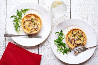 Tarta de queso y cebolla